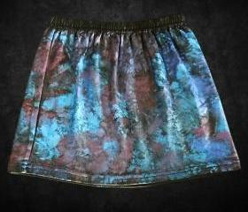 Hand Painted Galaxy Mini Skirt Black